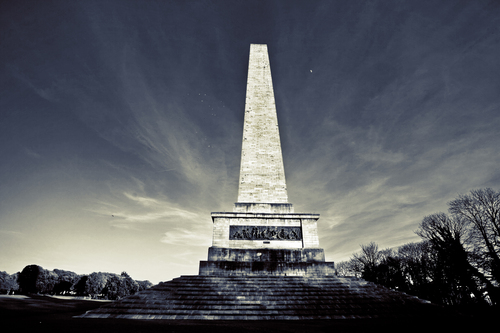The Wellington Monument in Phoenix Park, Dublin, the largest obelisk in Europe.