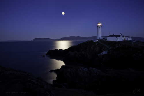 Fanad Lighthouse bathed in Moonlight