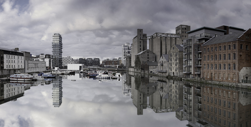 The most beautiful area in Dublin, Grand Canal Docks.