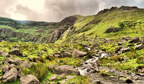 Coumshingaun, in the Comeragh Mountains, Co. Waterford, Ireland.