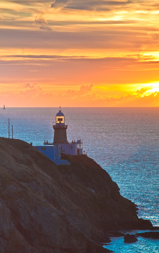 The Baily Lighthouse at Howth Head at sunrise