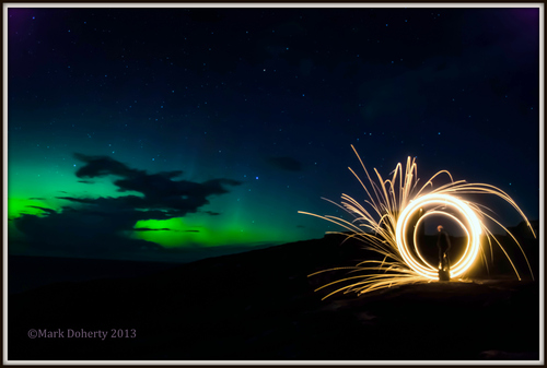 Northern Lights at Malin Head