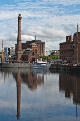Pumphouse Liverpool. An old well known building on the Liverpool Albert Dock.