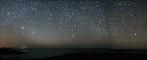 Zodiacal Light, M31, PanSTARRS, Milky Way & Jupiter