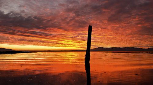 An intense red sky taken in buncrana earlier this year..it lasted a few minutes and it was gone!