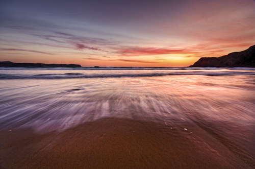 Sunset image taken @ the five fingers in malin co.donegal,
