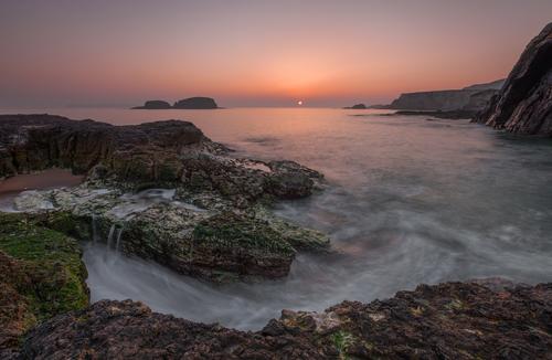 Spring sunrise of the north Antrim coast.