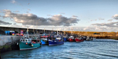 Boats anchored for the night at Ring, Co. Waterford.