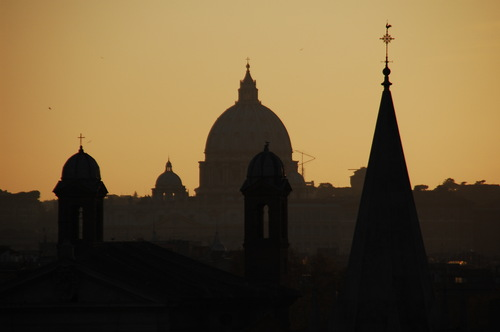 Rome, in background Saint Peter's dome