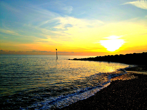 Hythe Bay at sunset