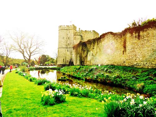 Saltwood Castle in Spring, Hythe, Kent, United Kingdom