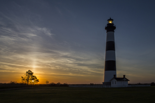 Sunrise at Bodie lighthouse - North Carolina