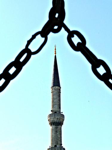 Minaret in Istanbul, Hagia Sophia