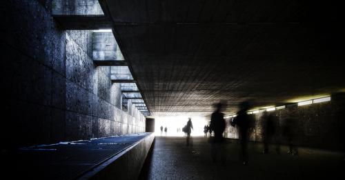 The subway between the Hofgareten and the Englischer Garten in Munich on the first sunny day of 2013.