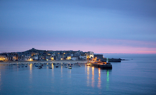 Dawn breaks over St Ives.