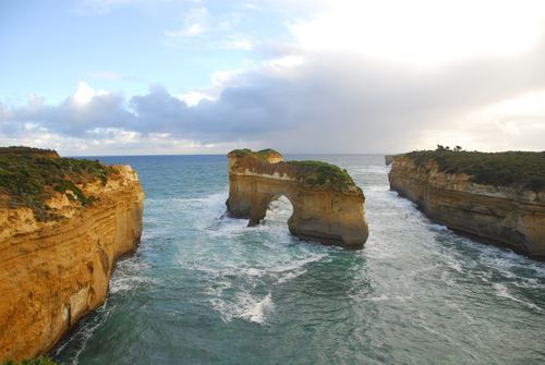 A sea arch on the Great Ocean Road, Australia.