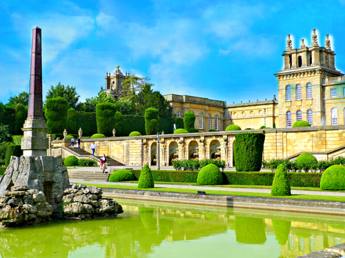 View in Blenheim Palace, Oxfordshire, United Kingdom, Europe