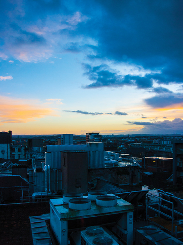 Sunset from The Lighthouse, Glasgow