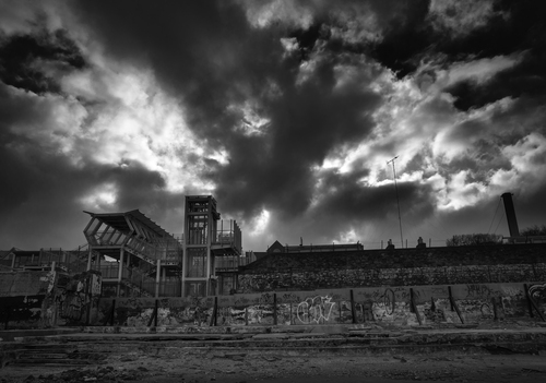 A stormy Sunday, taken from the remains of Blackrock Baths.