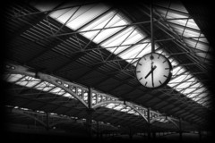 Taken at Dublin's Heuston Train Station. Heuston Station is one of Dublin's two main railway stations and serves Ireland's midlands, south and south west regions. The station opened on 4 August 1846.