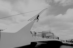 Sony Nex-5 Carl Zeiss Touit Distagon 2.8/12 T* Samuel Beckett Bridge, Dublin City.