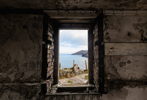 From the abandoned coastguard station at Torr Head, Co. Antrim, looking south.