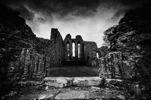 The ruins of Inch Abbey, just outside Downpatrick.