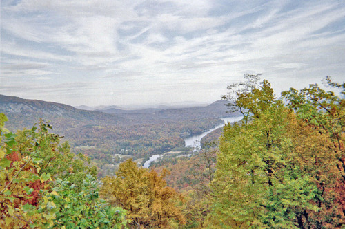 The Autumn season is alive at Chimney Rock, North Carolina