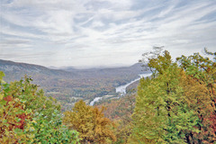 The Autumn season is alive at Chimney Rock, North Carolina