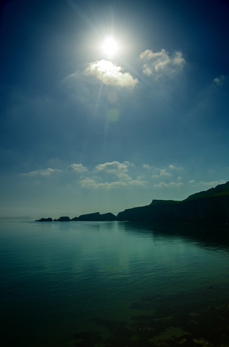 Kinbane Head is located on the north coast of Northern Ireland.