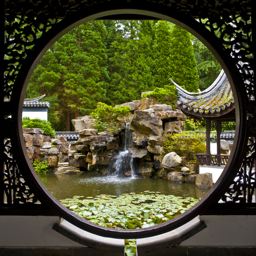 Chinese Garden in the Botanical Garden of the Ruhr-University in Bochum
