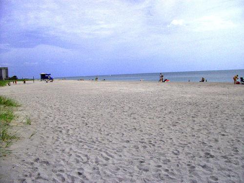 A quiet evening on the beach of Siesta Keys, Florida US