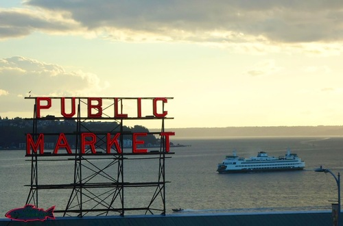 Pike Place Market & Puget Sound