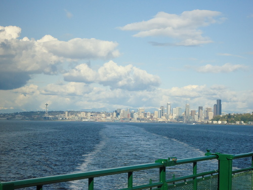 Seattle cityscape from Puget Sound