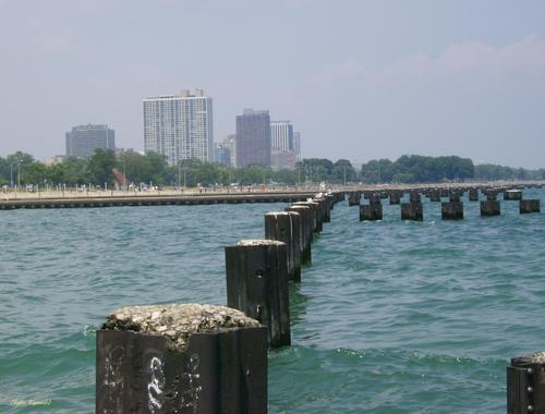 Out by the water on Lake Michigan shores