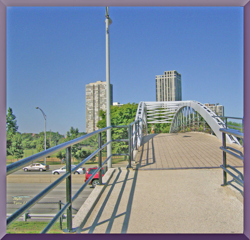 The Walkway Bridge from the beach going back to the city
