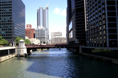 Downtown Chicago by the water