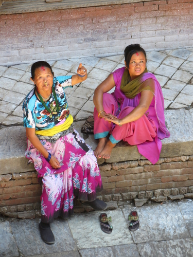 Ladies chatting in Kathmandu