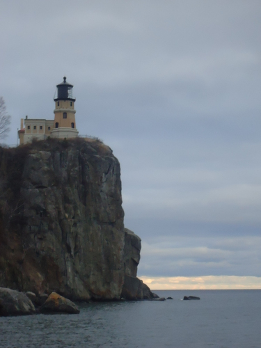 Split Rock Lighthouse from Lake Superior.