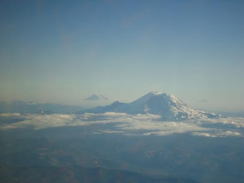 Mt. Rainier from the air.