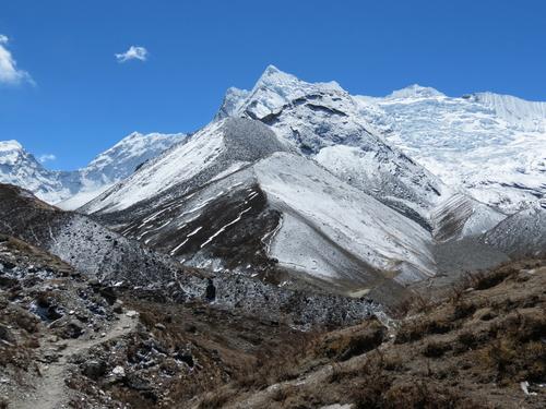 On the way to Island Peak, Everest region