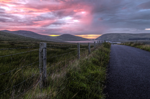 Looking towards Spelga Dam in the heart of the Mourne Mountains.