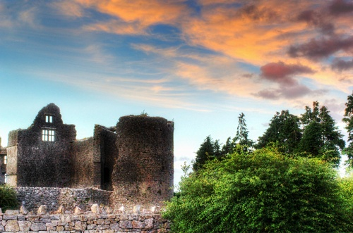 Roscommon Castle, a dramatic and imposing 13th Century Norman Castle.