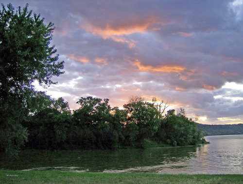 This beautiful sunrise was taken in Kentucky along the Ohio River Valley and would make ideal for hanging wall art on home or office walls