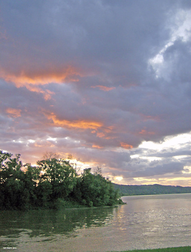 Beautiful catch of the Ohio River Valley of the Ohio River would make a nice hangable wall art for the home or office
