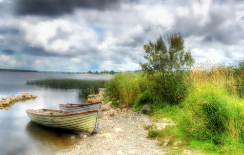 Gailey Bay on the shore of Lough Ree, Roscommon.