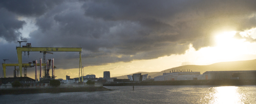 Sunset at Belfast Docks