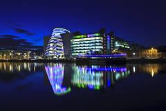 The Convention Centre Dublin Sits on the River Liffey.