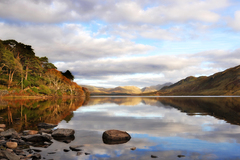 Autumn stilness on Kylemore Lake