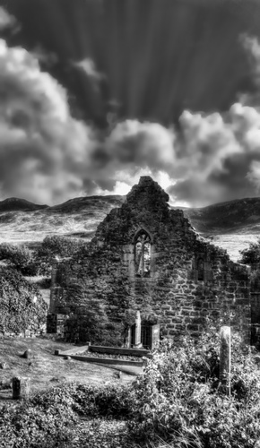 Church ruins was taken at the shore of Clew Bay, Merrisk, Co Mayo